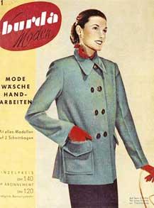 Обложка 1-го номера Бурда-Моден.